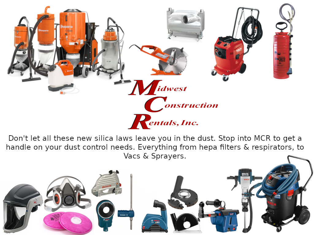 dust control equipment - filters, respirators, vacs & sprayers